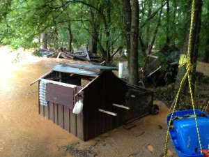 This was after the water had receded considerably.